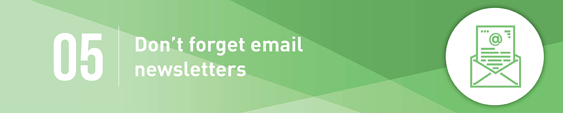Don't forget email marketing for matching gifts.