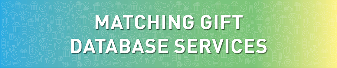 Learn more about matching gift database services.