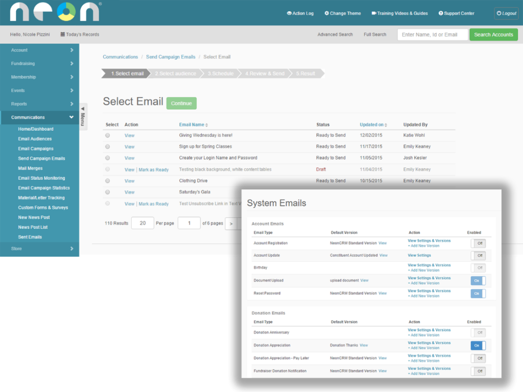 Using NeonCRM to Send Event Communications