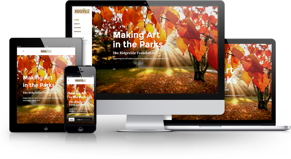 The Ridgeville Foundation has designed their website so that it looks great and optimizes the user experience on every device!