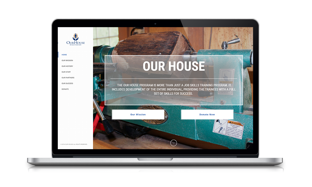 Nonprofit Website Portfolio: Our House