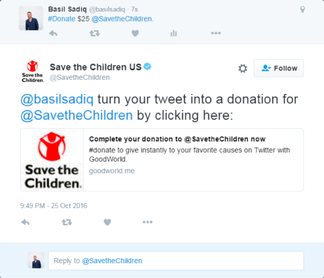 Twitter now allows supporters to make donations by tweeting #Donate and a dollar amount to your organization, making volunteer social engagement through Twitter a whole lot easier.