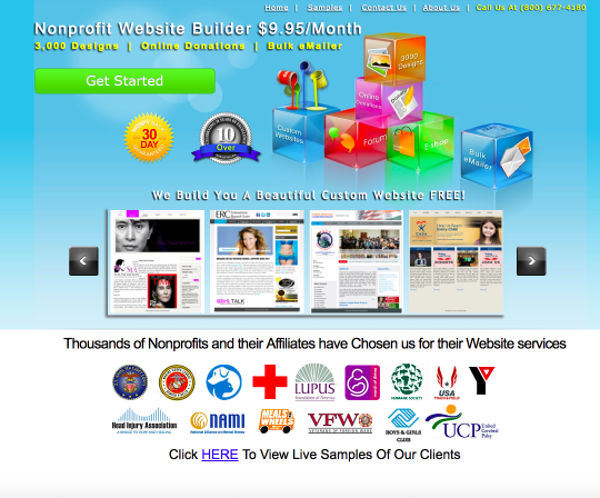Nonprofit Website Builder will design your website for you if you don't want to build it for yourself.