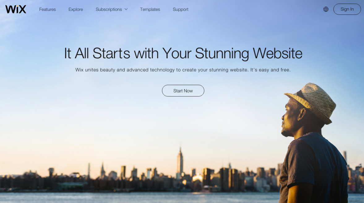 Wix is an easy-to-use, drag and drop style nonprofit website builder.