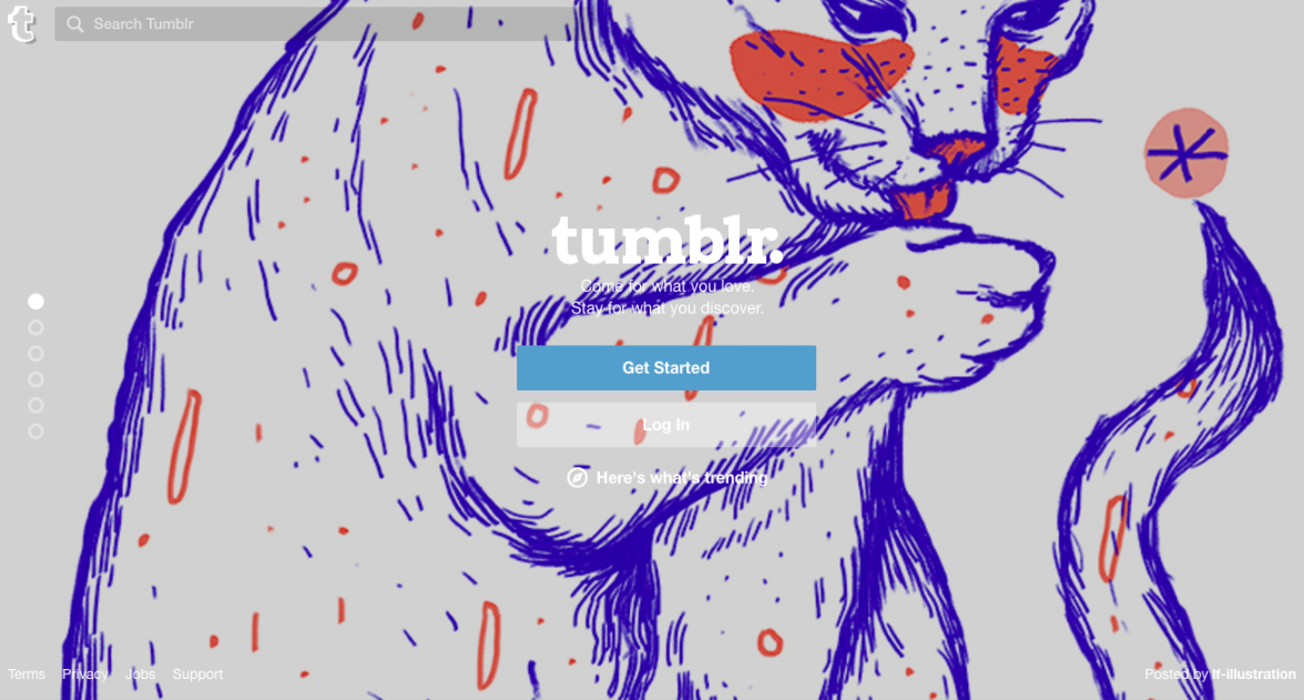 Tumblr enables nonprofits to create websites in the form of multimedia blogs that they can use to engage supporters.