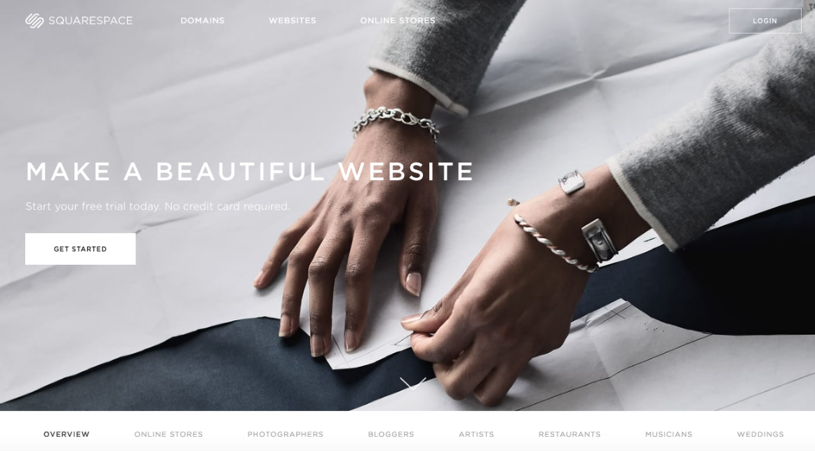 Squarespace is an easy-to-use and customizable nonprofit website builder.