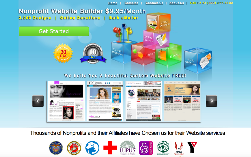 Nonprofit Website Builder offers organizations thousands of templates that they can choose from and customize to build their websites.