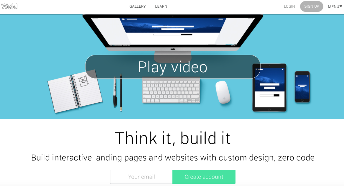 Weld is a nonprofit website builder that focuses on interactive design.