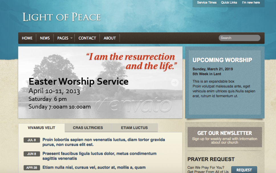 Light Of Peace Is A WordPress Template That Was Designed Specifically For Churches And Other Types