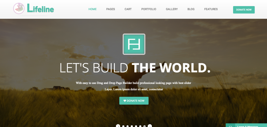 Lifeline is a HTML and WordPress template designed specifically for nonprofit organizations.
