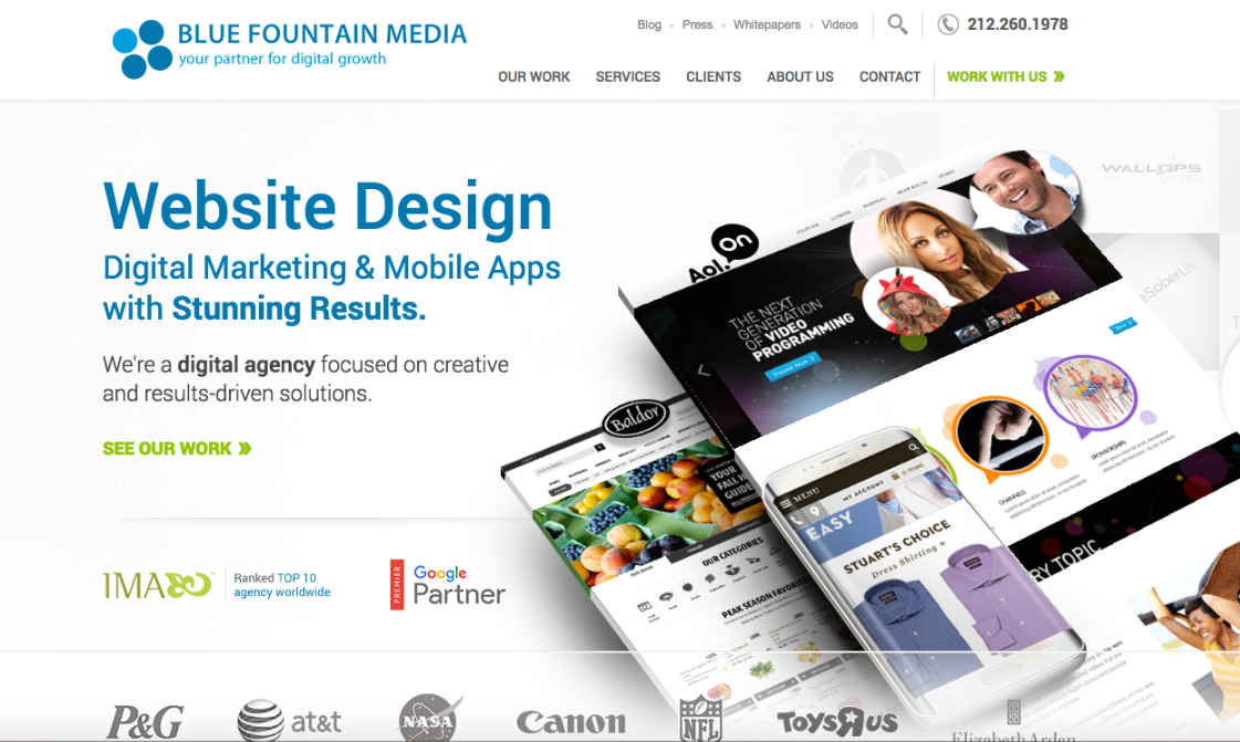 Blue Fountain Media works with all sorts of nonprofits and companies to create responsive websites backed by strong digital marketing strategies.
