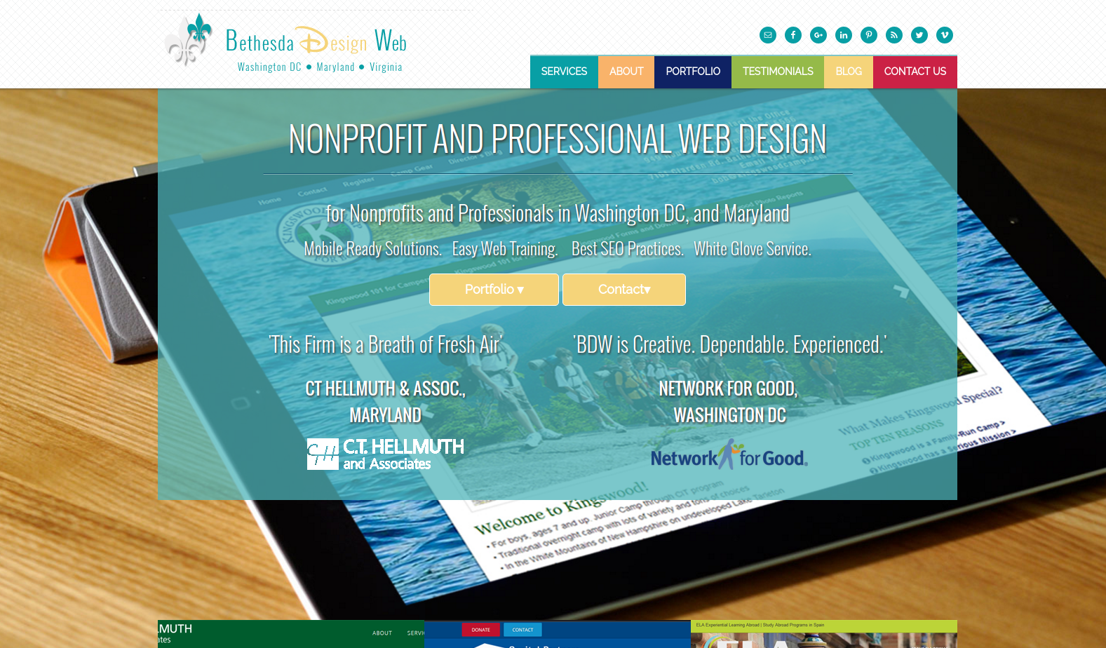 Bethesda Design Web offers web design and copywriting services for nonprofits and businesses in the Washington D.C. area.
