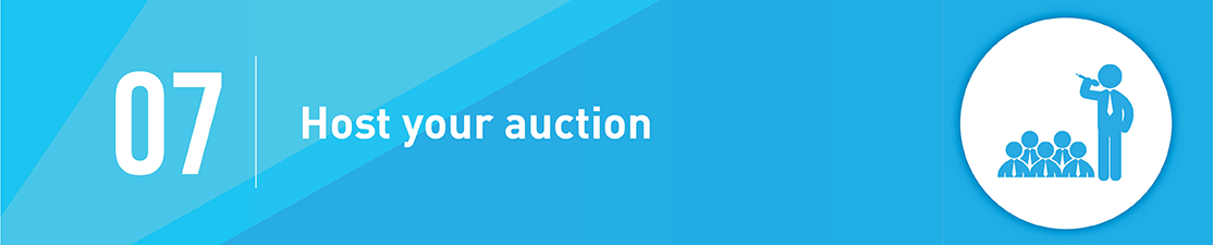 Step 7 to planning a silent auction is to host your auction!