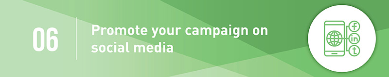 Promote your capital campaign on social media.