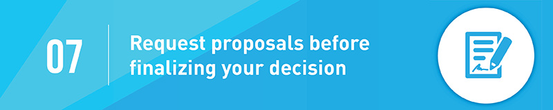 Request a proposal from your fundraising consultant before you make a final decision.