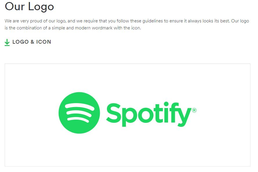 nonprofit branding style guide spotify example