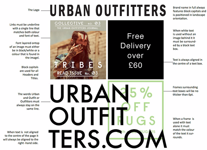 nonprofit branding style guide urban outfitters example