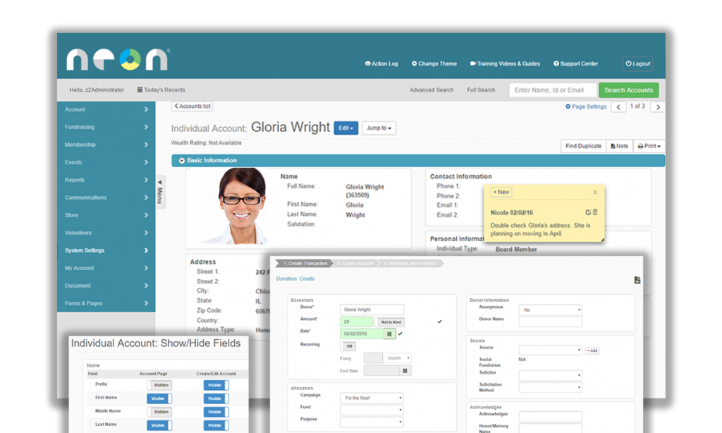 Neon's donor management software makes it easy to track your donors.