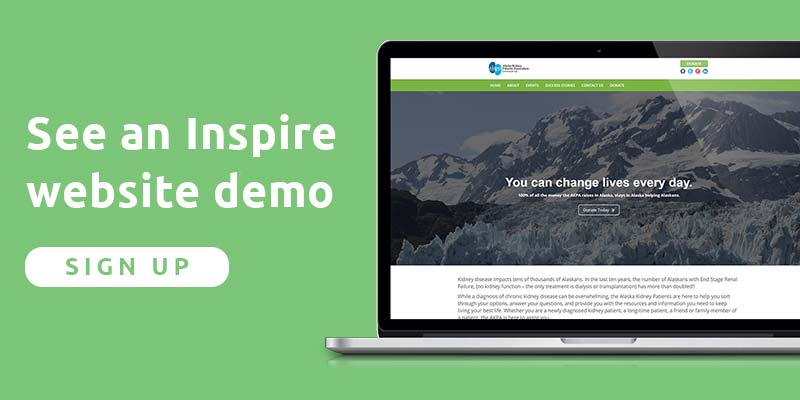 Sign up for an Inspire website demo today!