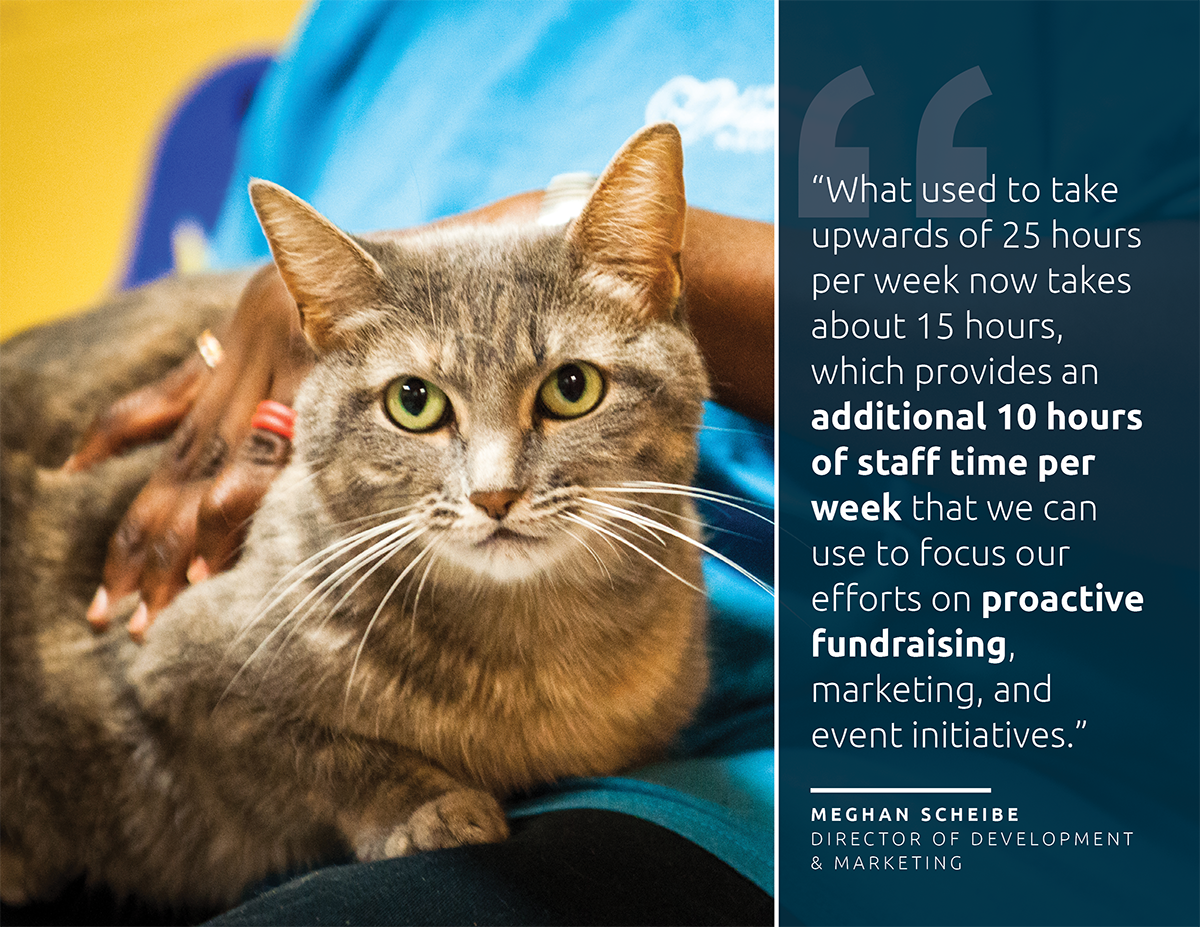 Lawrence Humane Case Study: Neon's nonprofit CRM helped them save 10 hours per week in staff time
