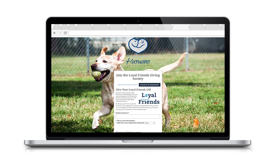 Lawrence Humane uses NeonCRM's online forms to accept donations and manage fundraising campaigns.