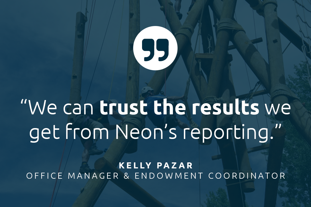 Challenge Aspen uses the Neon reporting tools to pull metrics critical to their mission.