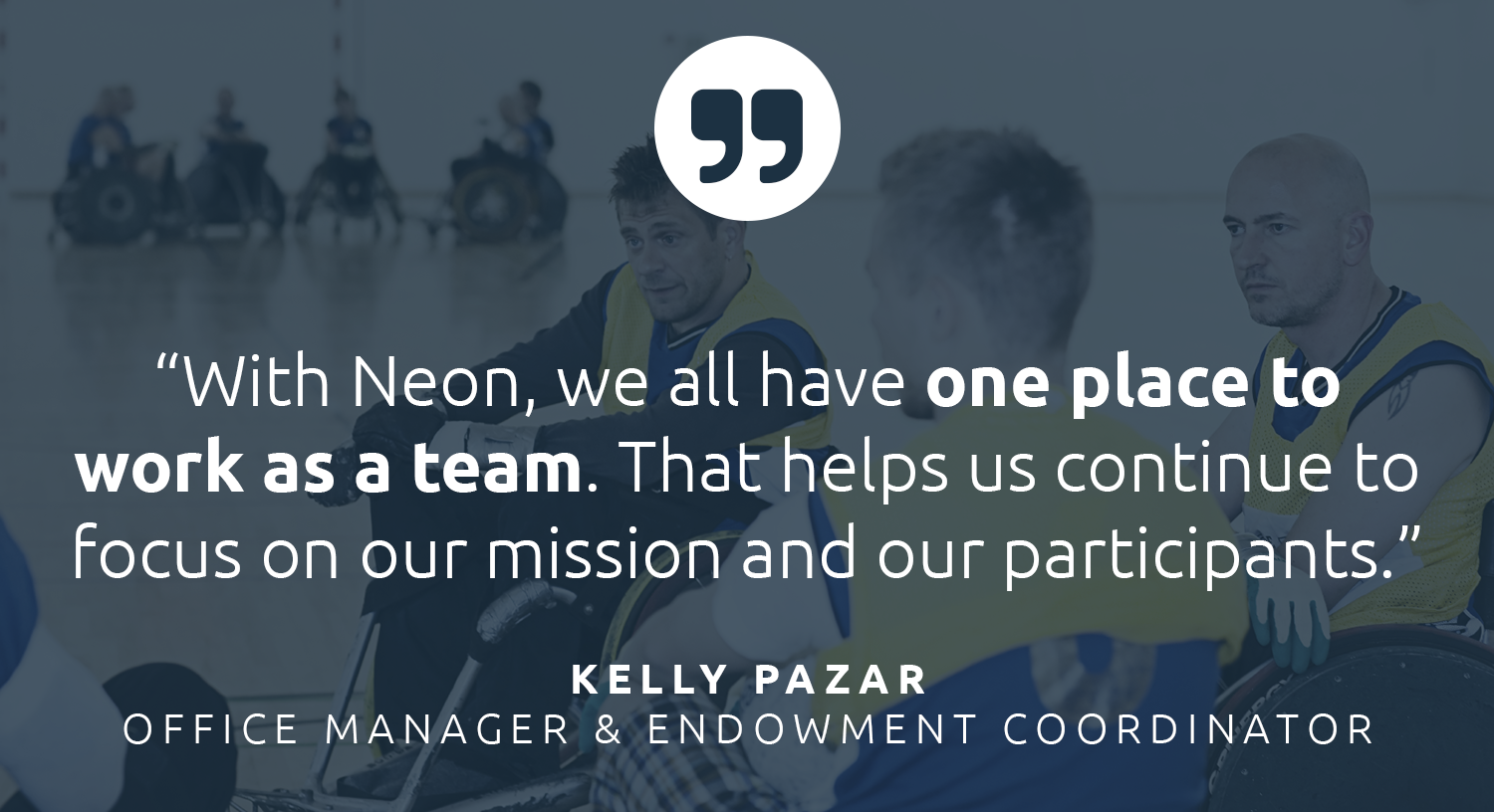 Neon serves as the core database for Challenge Aspen — so they can all work together as a team in one place.