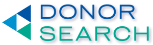 DonorSearch Logo: Wealth Screening and Prospect Research Tools to Assist with Major Gifts