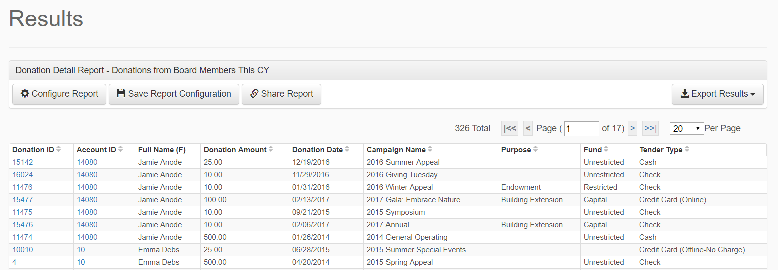 Export report results easily, in multiple formats.