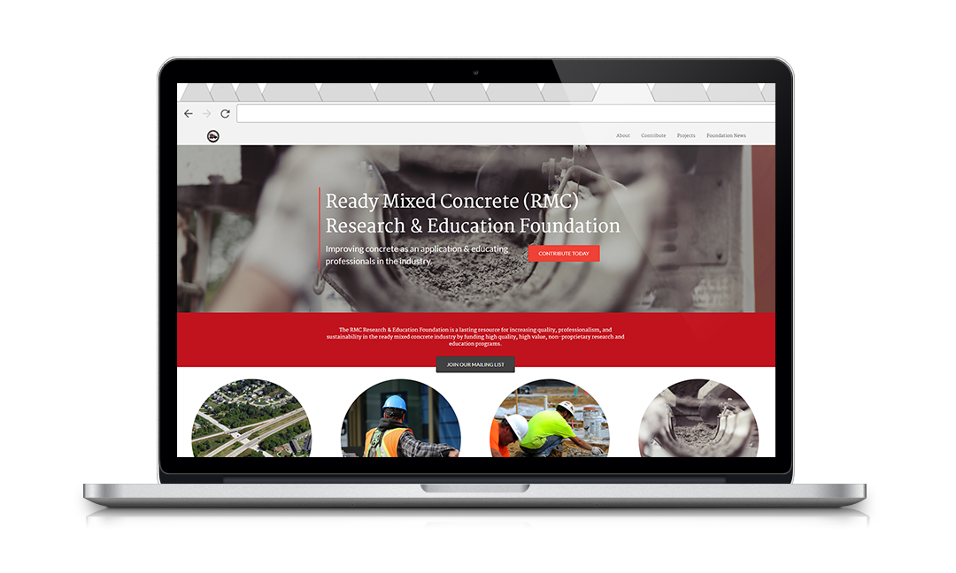The RMC Foundation used Neon's Inspire Website Builder to create their new nonprofit website's homepage.