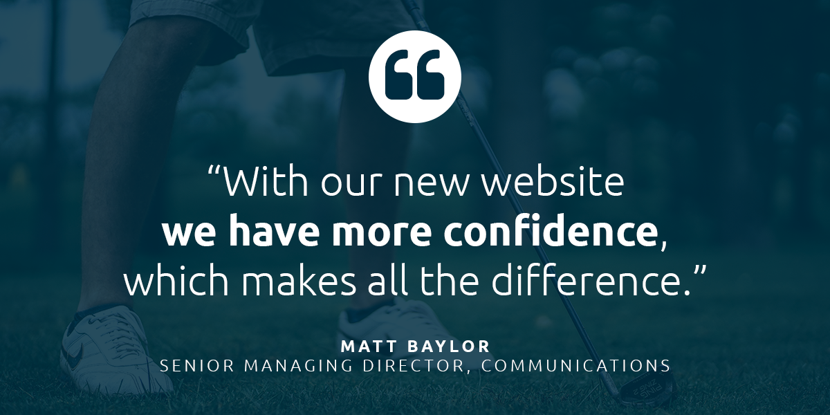 "CDGAF Quote: ""With our new website we have more confidence, which makes all the difference."""