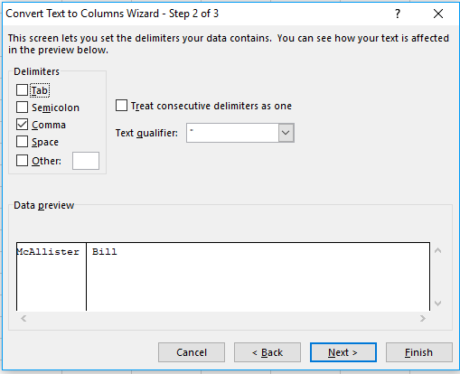 Use the text to columns tool to split up one cell into multiple columns.