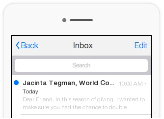 This example does not use urgent, sales-y messaging and stays true to the organization's voice.