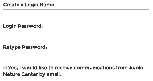 On front-end forms, data consent fields will display as opt-in check boxes.