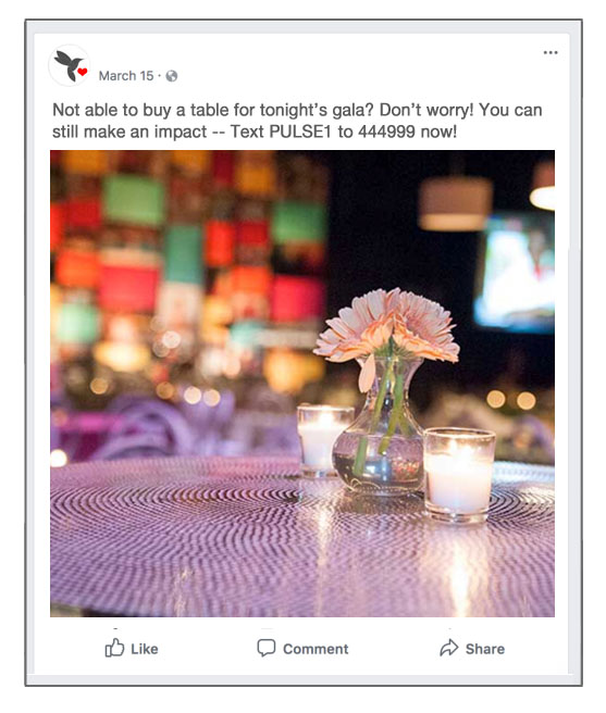 Use social media to promote your text-to-give campaign before the event, so you'll be able to engage more supporters and make a greater impact.