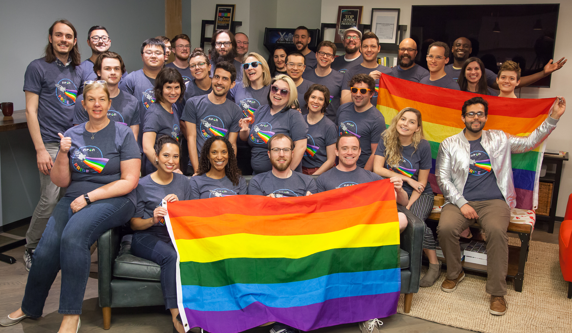 National Pride Month celebration at the NeonCRM office.