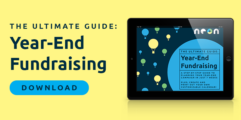 An image link to NeonCRM's Year-End Fundraising Guide